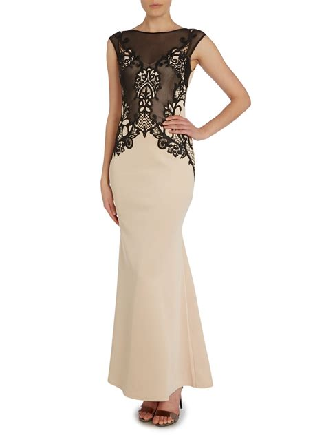 Dress Lace Import 1 lipsy sleeveless applique lace bodycon maxi dress in black