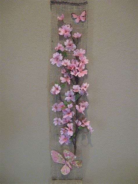 Wall Hanging Paper Craft - burlap wall hanging craft ideas