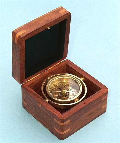 the brass compass stanley miniature gimbaled boxed compass from the