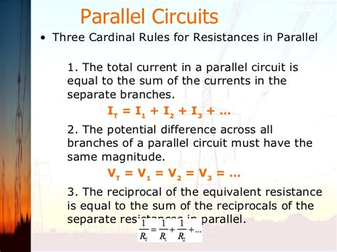 parallel circuits potential difference unit 3 notes