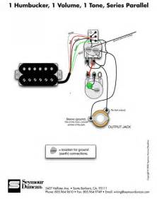 1 humbucker 1 volume 1 tone series parallel 50 s wiring