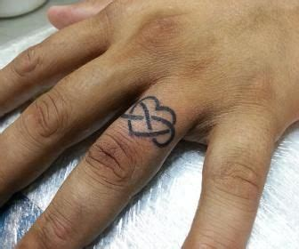 infinity tattoo ring designs the heart and infinity symbol tattoo wedding rings