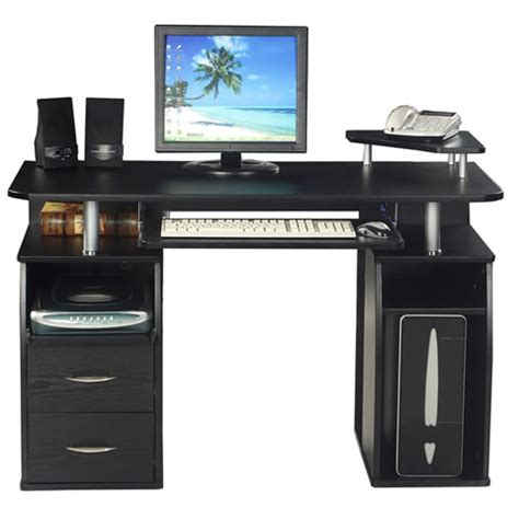 Office Desk Essentials Essentials Pedestal Computer Desk With 2 Drawers Officesupermarket Co Uk