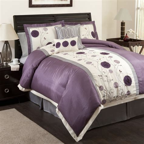 purple flower comforter set grey and purple bedrooms purple and grey floral