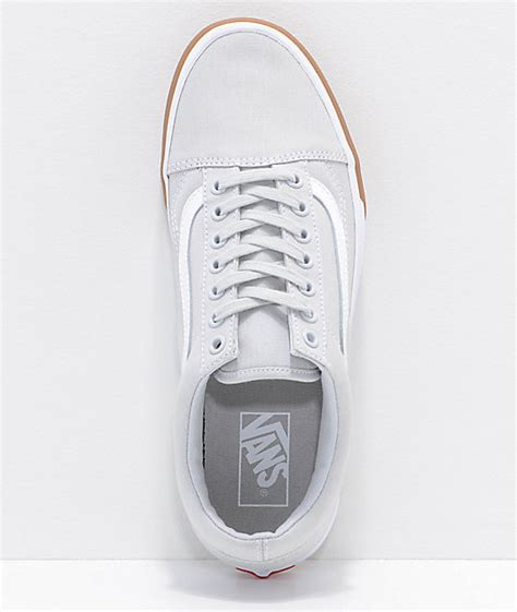 Vans Oldskool Grey Gum vans skool grey gum bump skate shoes zumiez
