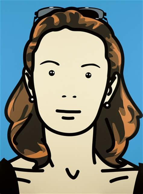 julian opie opie julian monique business woman housewife 11 2004