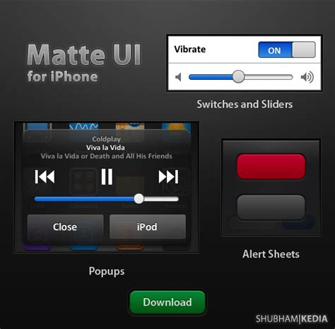ui themes for iphone matte iphone ui v1 1 by kediashubham on deviantart