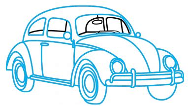 punch buggy car drawing how to draw vw beetle a car easy by drawing