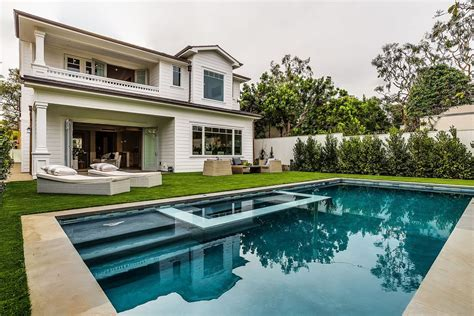 Backyard Pools La Times Traditional Swimming Pool With Pathway Exterior