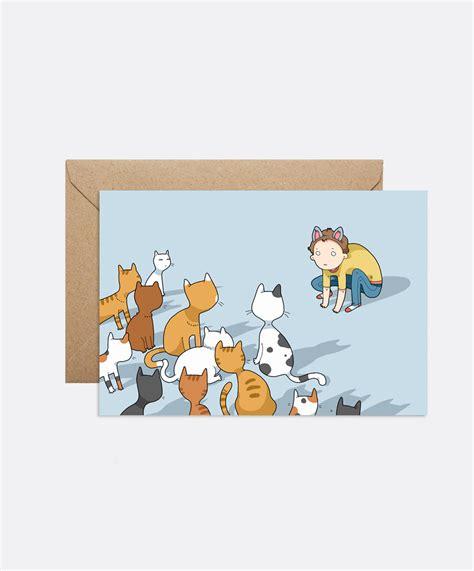 doodle card i am cat card lingvistov