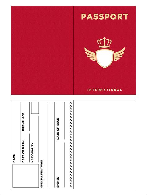 passport template passport template printable passport