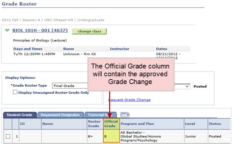 Unc Registrar Office by Grade Change Requests For Permanent Grades School Dean