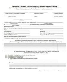 Freight Claim Form Template by 51 Sle Claim Forms