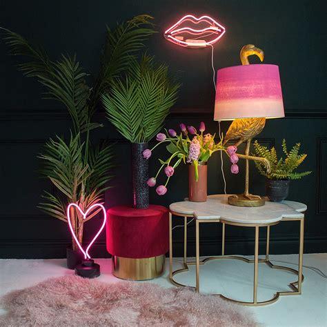 pink neon wall light audenza