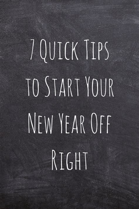 start your new year right 7 tips to start your new year right