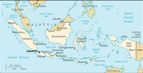 World Map Indonesia by Indonesia Cia Map