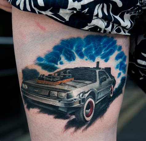 back to the future tattoo delorean back to the future by dublinink on deviantart