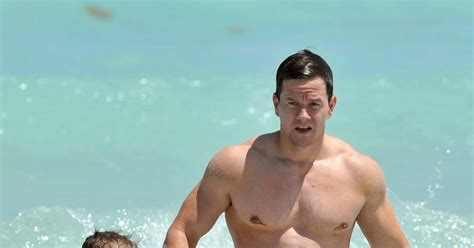 beach bodies daily record mark wahlberg and son brendan photos hottest celebrity