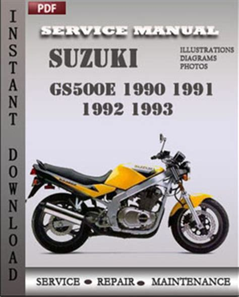 small engine repair manuals free download 1990 suzuki sidekick head up display suzuki gs500e 1990 1993 workshop repair manual repair service manual pdf