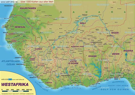 map of west africa west africa map free large images