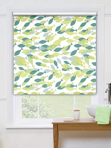 waterproof roller blind for bathroom splash marine life aqua roller blind playful fish swim