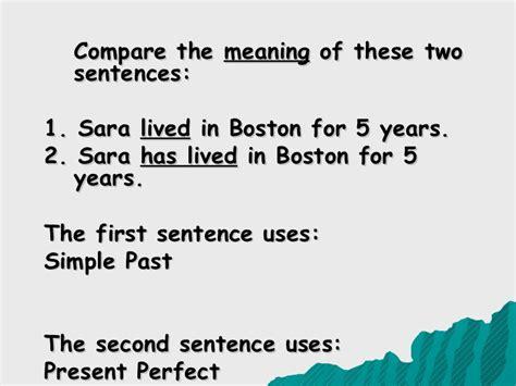 present perfect simple sentence pattern simple past vs present perfect tense