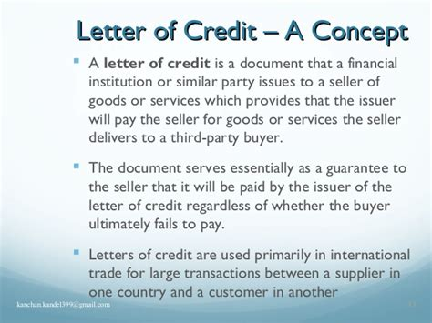 Non Financial Standby Letter Of Credit international trade finacing