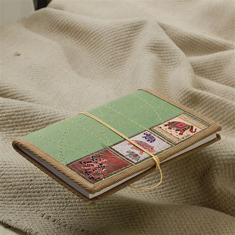 Handmade Paper Diary - elephant cover handmade recycled paper travelers diary 21