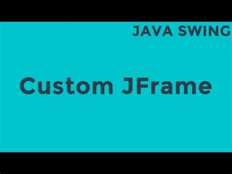 java swing splash screen java custom jframe youtube