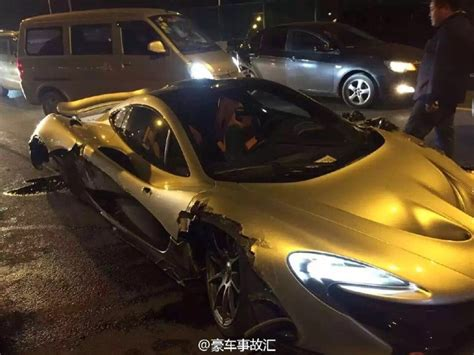 mclaren p1 crash mclaren p1 crash in china dpccars