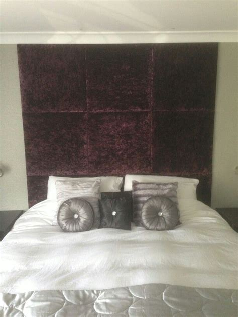 pinned headboard gorgeous aubergine chenille