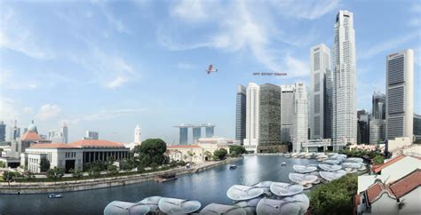 designboom singapore spark plans sustainable floating hawker for singapore