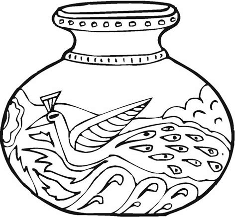 Vase Coloring Page by Free Picture Of A Vase Coloring Pages