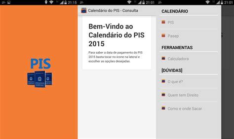 Calendario P Receber O Pis Calend 225 Pis 2015 Para Android Celulares Na Web