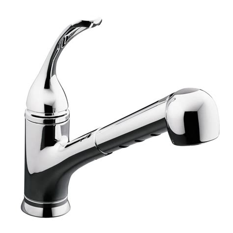 kitchen faucets canada kohler coralais single pullout spray kitchen sink faucet in polished chrome the home