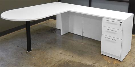 desk l white white u shaped workstation w hutch