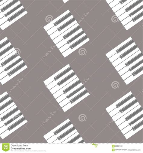 the pattern of white and black keys on the keyboard key stock vector image 59681842