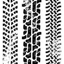 Dirt Bike Tire Tracks Vector Shabby Tyre Treads Traces Of Three Different Road