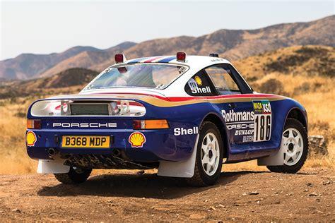 porsche 959 rally car auction block 1985 porsche 959 dakar rally car