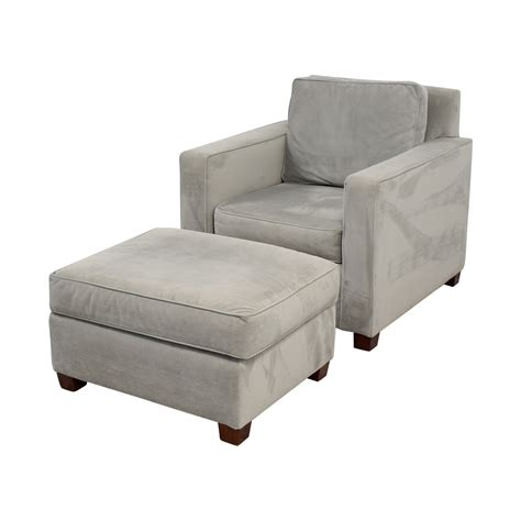 west elm chair with ottoman 49 off west elm west elm grey accent chair and ottoman
