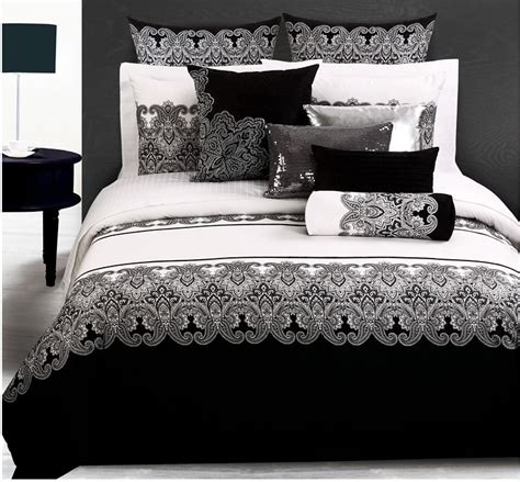 Black And White King Size Bedding Sets Luxury 4pc 6pcs Bedding Set King Size Black And White Bedding Home Textile Bed Sheet