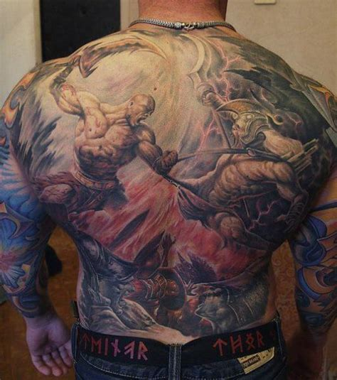 tattoo back warrior fantasy back warrior tattoo by roman kuznetsov tattoo