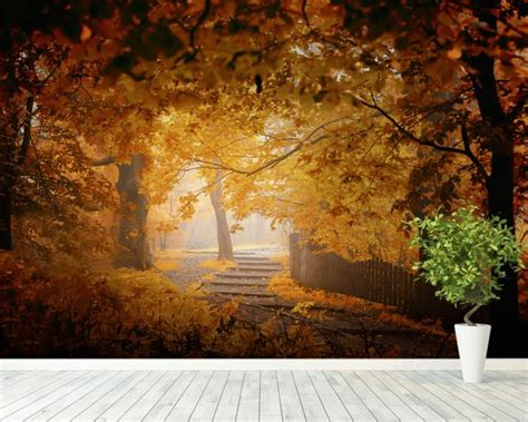 Turn Photo Into Wall Mural turn to fall wall mural amp turn to fall wallpaper