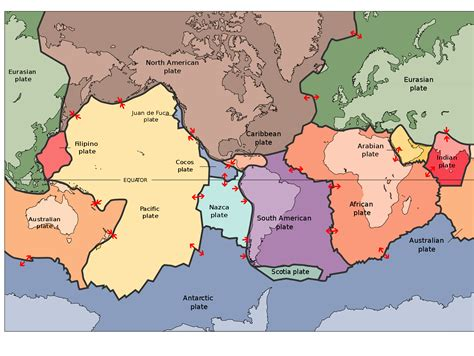 map of tectonic plates cooklowery13 earth science