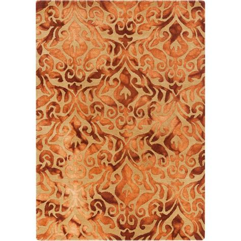 Burnt Orange Area Rug Artistic Weavers Calgary Burnt Orange 8 Ft X 10 Ft Indoor Area Rug S00151004963 The Home Depot