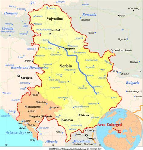 serbia srbija serbia montenegro map
