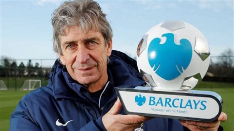 epl manager of the month premier league manchester city boss manuel pellegrini and