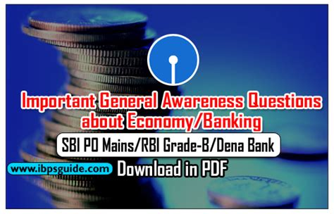 po bank important general awareness questions about economy