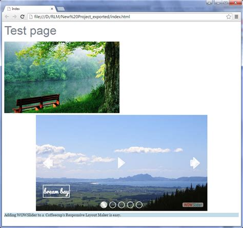 responsive layout maker add image using wow slider with coffeecup s responsive layout maker