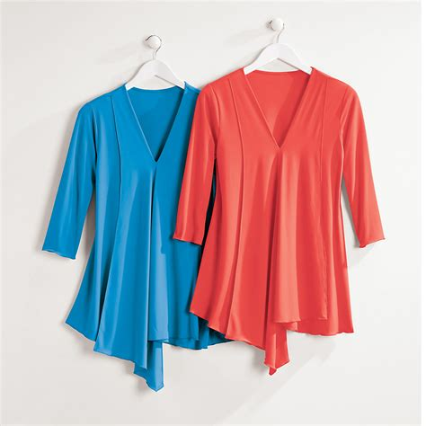 draped tunic draped v neck tunic gump s